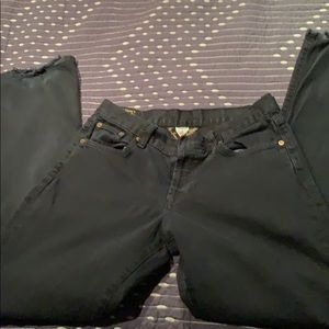 """Lucky button fly black jeans size 6 31"""" inseam GUC"""